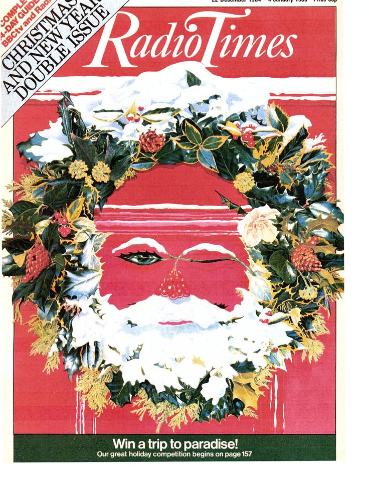Door #16 - a highly festive illusion from 1984, the winking wreath Santa!