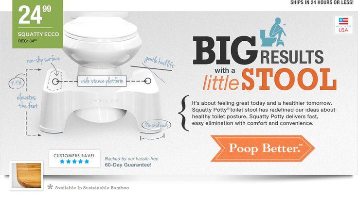 Squatty Potty Original Bathroom Toilet