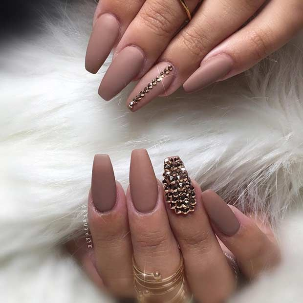25 Cool Matte Nail Designs to Copy in 2017 | StayGlam ...