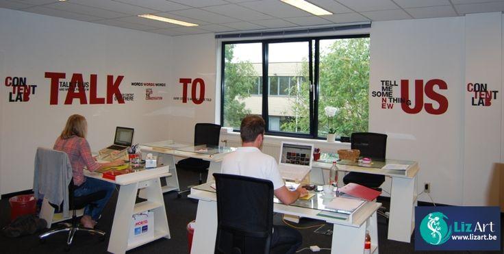 63 best decoratie bedrijven en wandelgangen images on pinterest galleries van and wand - Decoratie kantoor ...