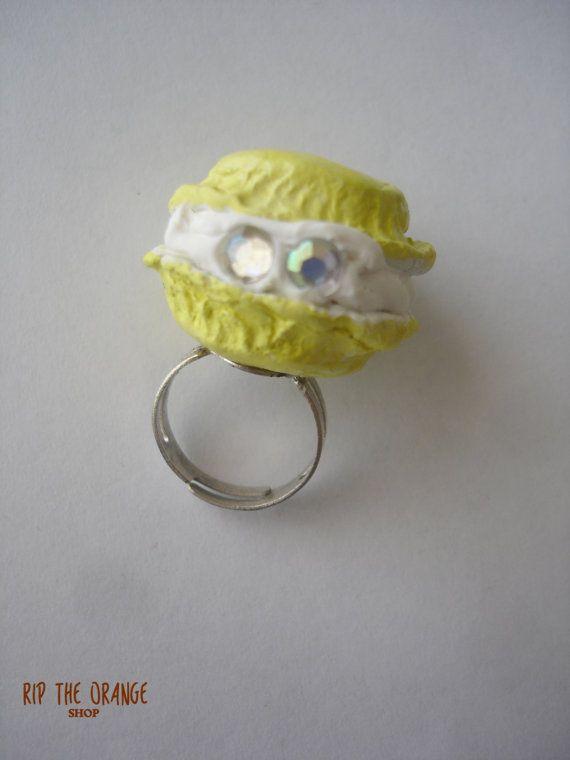 Macaron Rings Purple & Yellow by riptheorangeshop on Etsy