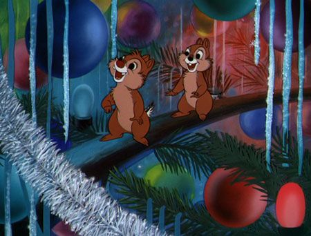 "Inside christmas tree in ""Pluto's Christmas tree"" (Disney, 1952). Whenever I decorate the tree I imagine how it will look like from Chip and Dale's point of view."