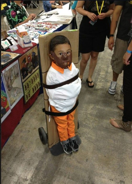 child dressed up as hannibal lecter is rather adorable i also believe these parents had halloween costumes for kidshalloween ideashalloween - Halloween Costumes For Parents And Baby