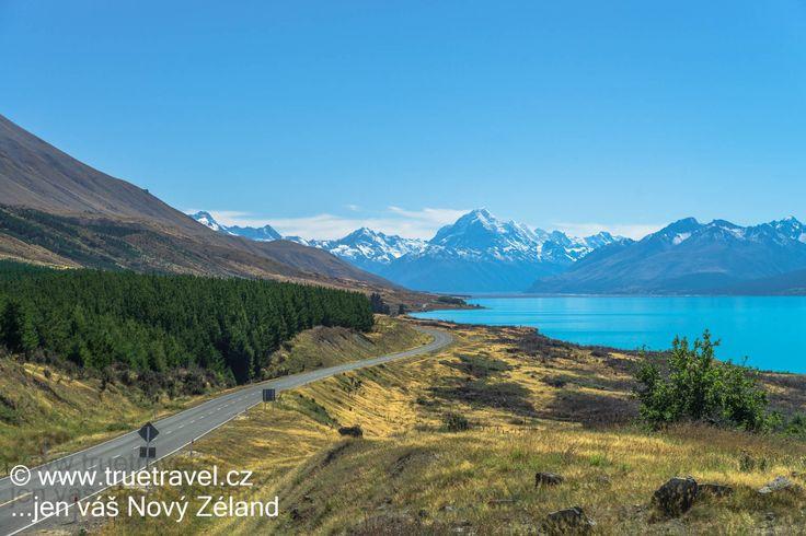 Mt Cook a tyrkysové jezero Pukaki, Nový Zéland  #NewZealand #cestovani #travel