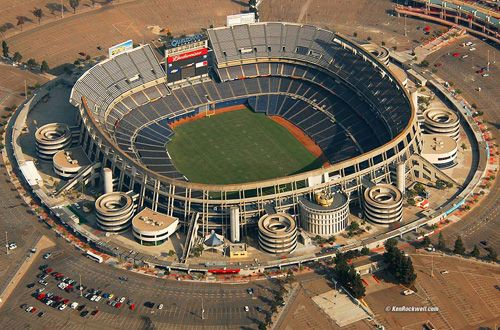 Aerial View of Qualcomm Stadium, home of the San Diego Chargers