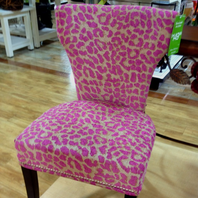 Pink Leopard Chair from Homegoods