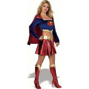 "Déguisement SuperGirl™ femme sexy, licence officielle Warner Bros™ DC Comics™"""