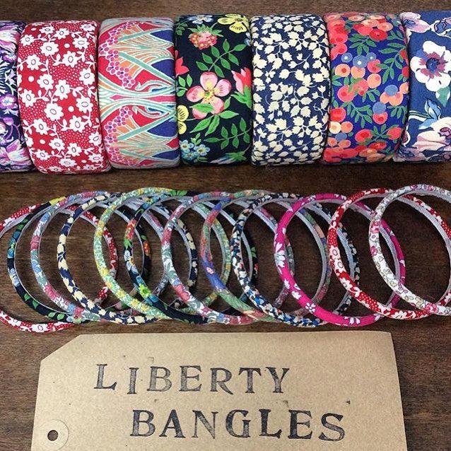 Gorgeous #libertyprint bangles. I want all of them! #liberty #libertylondon - Thanks to @libertyaddict! #myliberty
