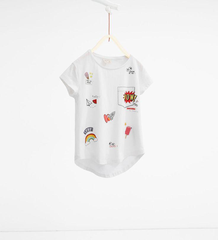 Image 1 of Heart print T-shirt from Zara