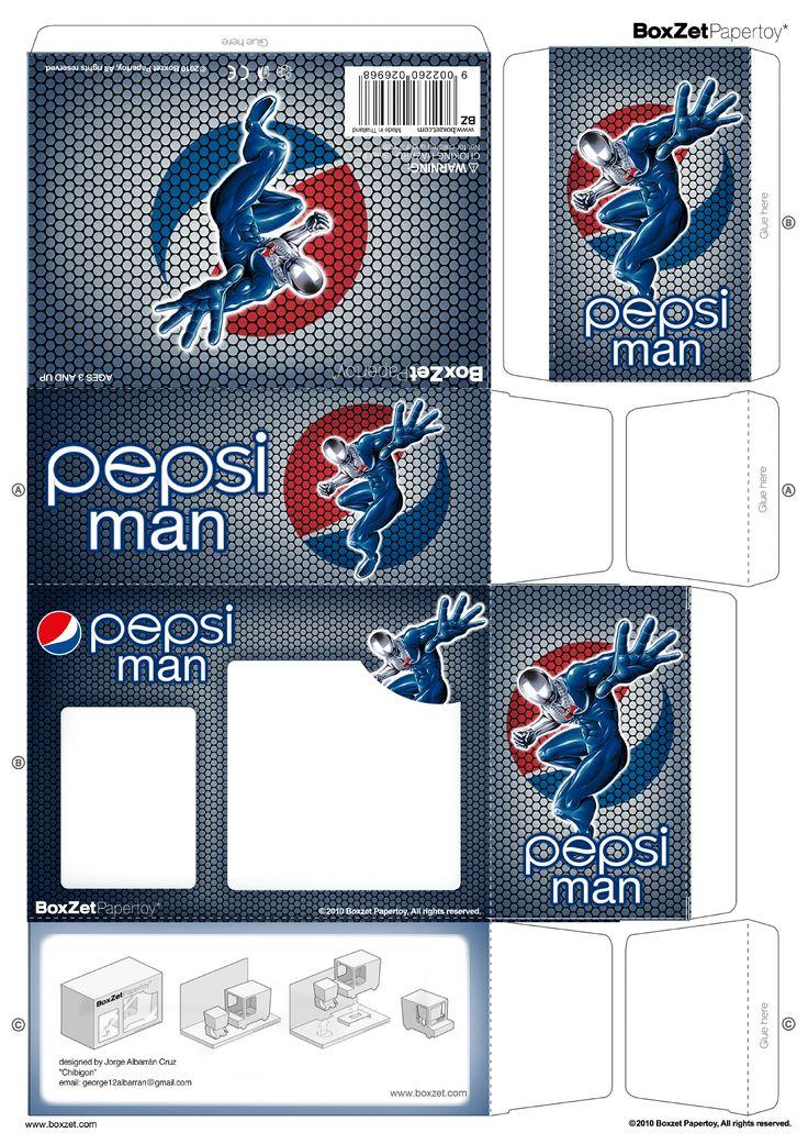 PaperToy_Pepsi Man BoxZet 1