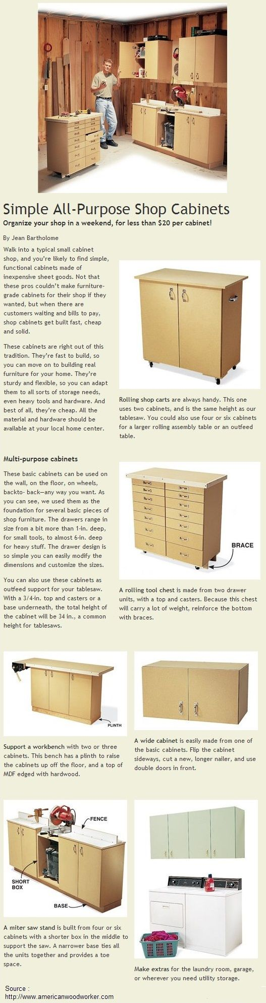 All Purpose Cabinets : Simple all purpose shop cabinets storage pinterest