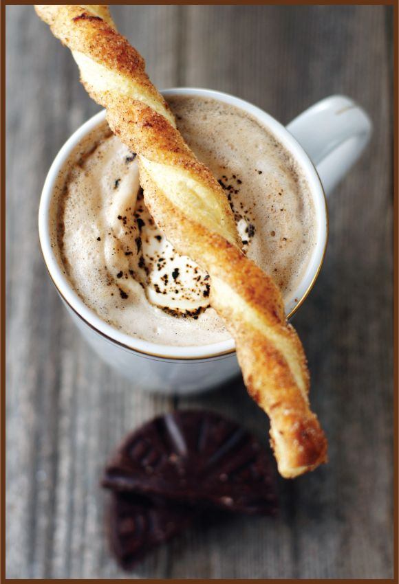 TREAT OF THE WEEK: PUFF PASTRY CINNAMON STICKS AND MEXICAN HOT COCOA
