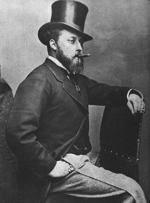 """King Edward VII (1841-1910).  He was the oldest child and heir of Queen Victoria and Prince Albert. Here he's seen as Albert Edward (Bertie),  Prince of Wales. The era during his short reign (1901-1910)  is known as the """"Edwardian Era."""""""