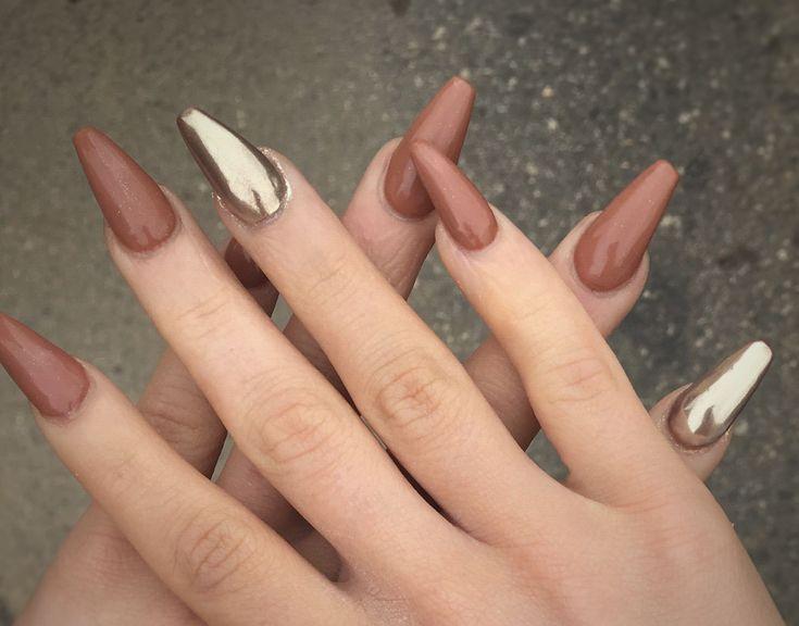 # Nägel # Sommer # Chrom # verliebt # nackt # freche Nagelkunst, Nägel, Sommer …