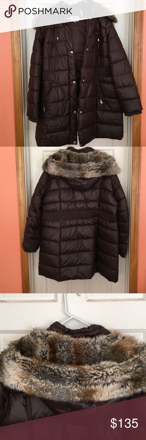 Ladies Coats Brown Knee Length Coat, NWOT Purchased last year @ Burlington Coat Factory now it's to big for me I Paid $175 for it so please no ridiculous low offers I will not comment or accept, Thank You !!!!! Laundry by Design Jackets & Coats Puffers