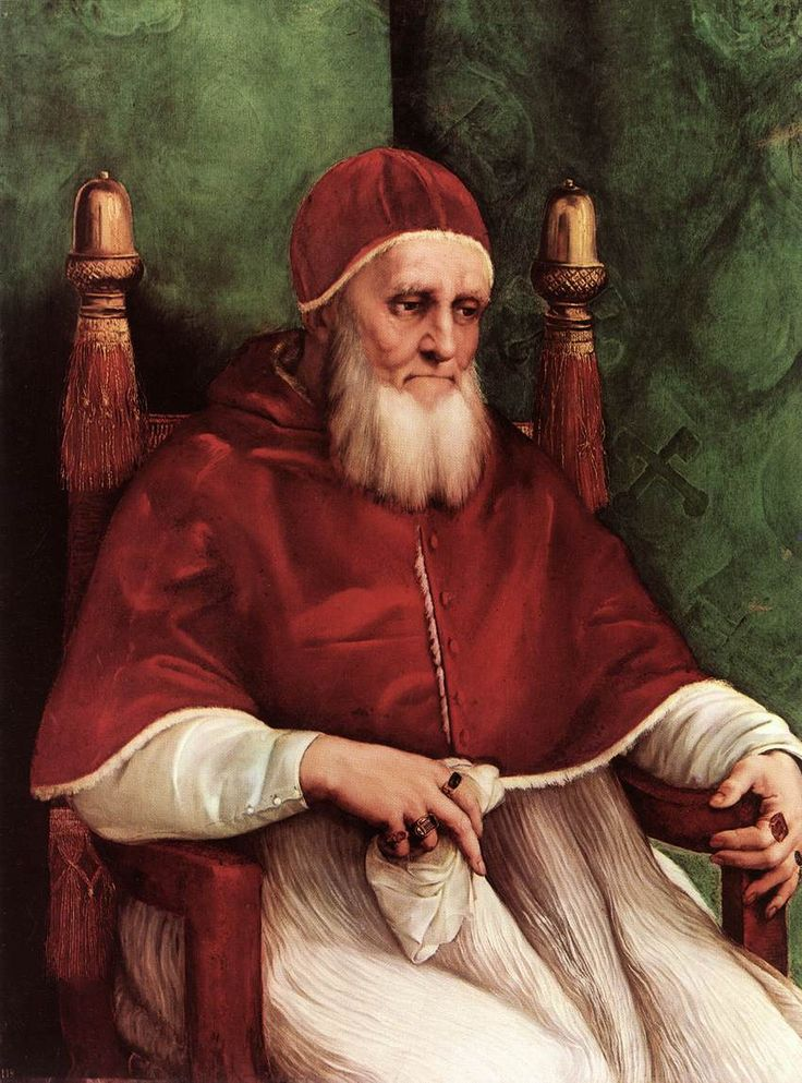 "Raphael: ""Portrait of Pope Julius II"",1512. (National Gallery, London, UK.) http://www.nationalgallery.org.uk/"