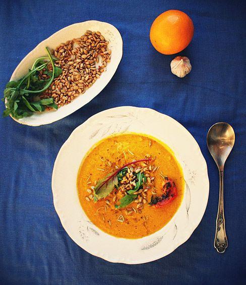 Крем-суп из запеченной тыквы   Salatshop ♥ You