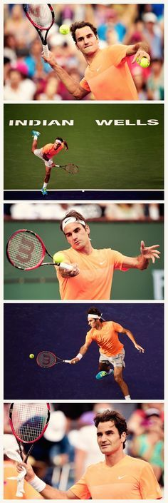 Roger #Federer at Indian Wells | Get his gear here: http://www.tennis-warehouse.com/player.html?ccode=RFEDERER