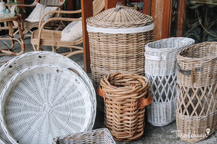 Carga | Homewares in Bali | Rattan baskets | Travelshopa