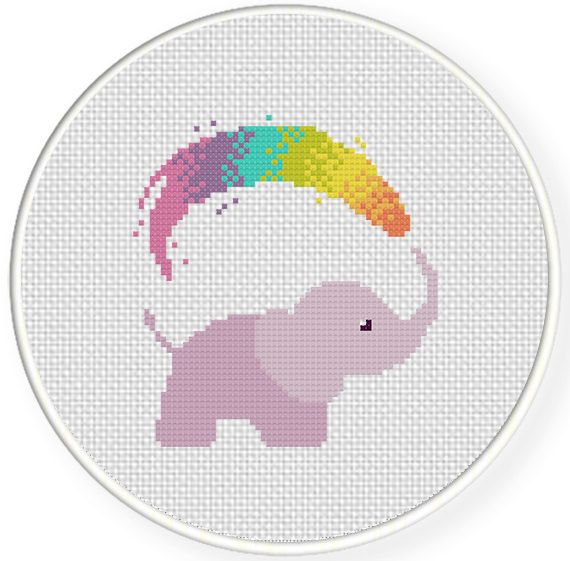 FREE for Dec 1st 2014 Only Rainbow Shower Cross Stitch Pattern