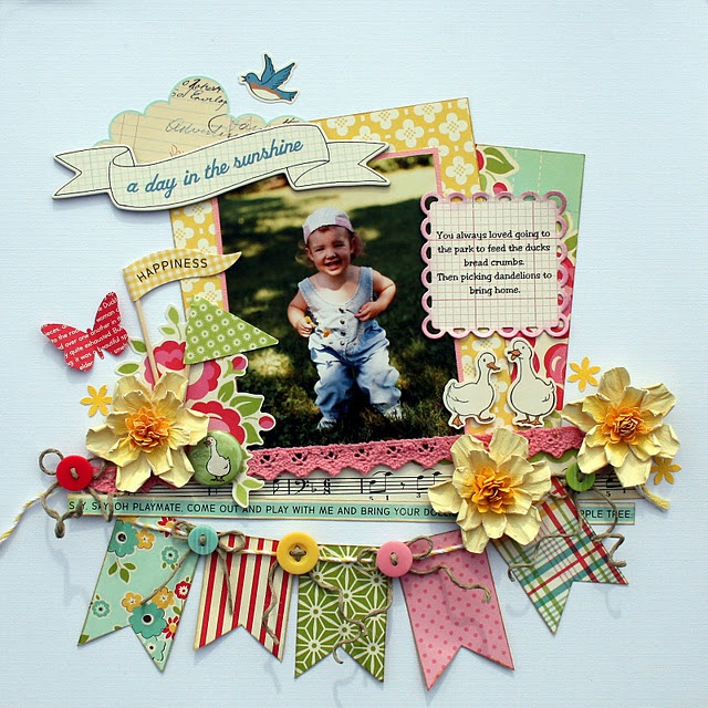 love the banner and mat placementsScrapbook Ideas, Scrapbook Layouts, Scrapbook Inspiration, Colors Pattern, Buttons, Scrapbook Pages, October Afternoon, Scrap Book, Banners