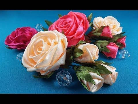 how to make a rose out of ribbon video