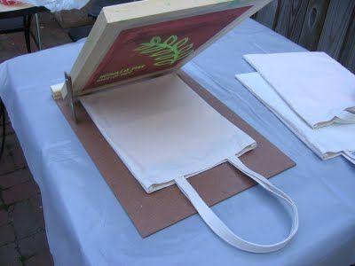DIY Screen printed Tote Bag Tutorial   by Needle and Spatula. #silkscreen #tutorial #DIY