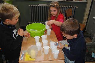 Een kijkje in de klas van juf Tine: Meten met meter en liter - hoeveel bekers kun je vullen met een liter?