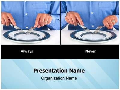 Table Manners Etiquette Powerpoint Template Is One Of The Best PowerPoint Templates By EditableTemplates