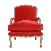 SCARLET lænestol rød velour
