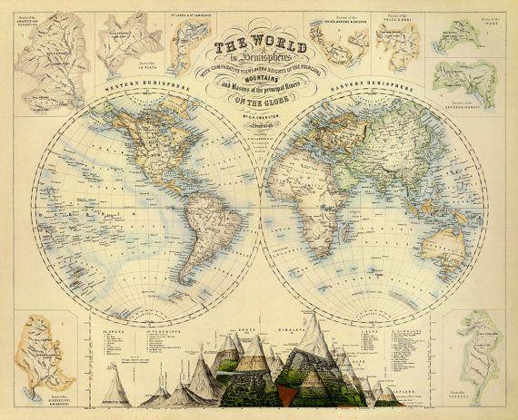 die 25 besten ideen zu alte landkarten auf pinterest landkarten vintage karte dekor und. Black Bedroom Furniture Sets. Home Design Ideas