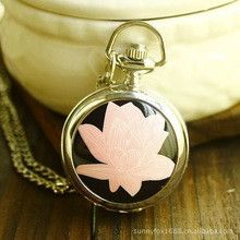 Small Lotus Enamel Pocket Watch Corrente De Ouro Masculina Pocket Watch Steampunk Watch And Chain Pocket Bike
