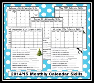 Empowered By THEM: Monthly Calendar Skills *updated*