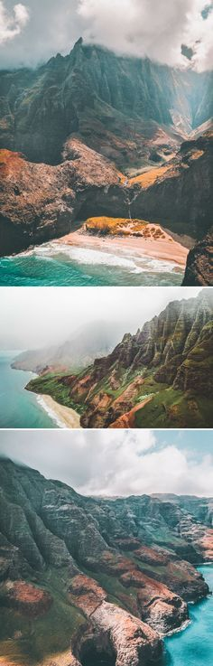 Na Pali Coast State Park in Kauai. Planning a vacation to Hawaii! Here are 27 of the best places to visit in Hawaii! Including the top things to see in Oahu, Kauai, Hawaii (The Big Island) and Maui! From beaches to the best hikes to incredible waterfalls you won't want to miss these top spots! #hawaii #oahu #usa #avenlylanetravel