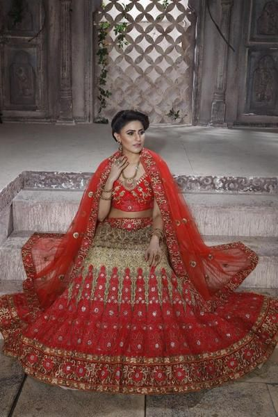 Look gorgeously amazing on all important occasions with your celestial personality by cladding yourself into this mystical wedding wear designer lehenga choli. This beige color designer lehenga choli is embellished with embroidery work that gives a majestic look to the outfit. This attire, when paired along with latest fashionable jewelleries, would give a divine charm to the wearer. The outfit consists of shimmer choli, net lehenga, satin inner and net dupatta. The bust size of choli can…