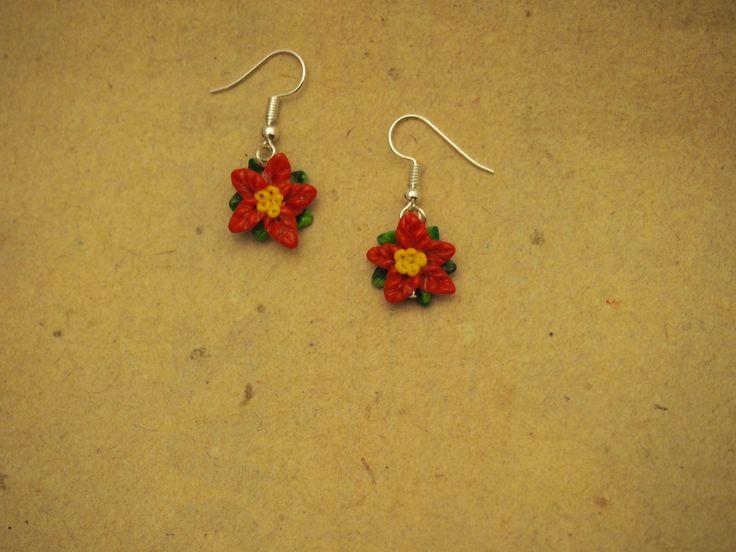 Ohrringe Blume rot von PfullingerEngele auf Etsy