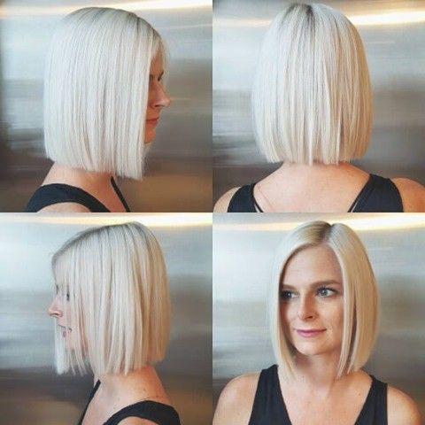 14 Null Erhohung Bob Platin Blonde Frisuren Platinblond Haarfarbe Haarfarbe Blond