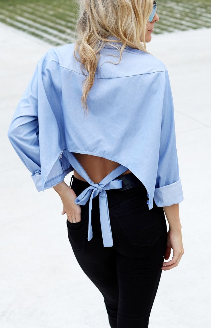 Hartley Cropped Shirt | Beginning Boutique