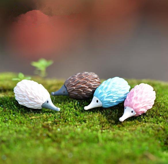 20 pieces Color Hedgehog/fairy garden gnome /moss terrarium home desktop decor/crafts/bonsai/doll house/miniatures