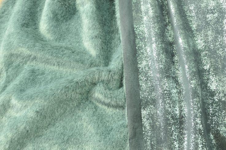 Umělá kožešina šedá oboustranná semiš / krátký vlas, UK017  890,-