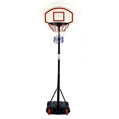 Fully Adjustable Free standing Basketball Back Board Stand & Hoop Set