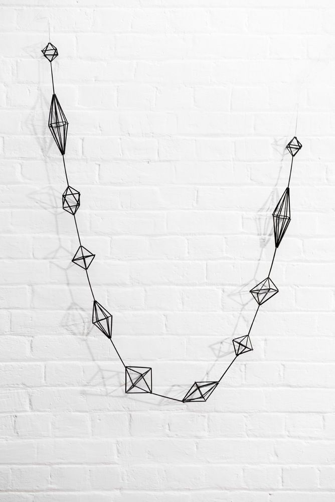 HIMMELI - BRANCH A himmeli garland painted matte black. Measures - 2.5m long x 13cm at widest point. Himmeli means Sky, Heaven… Many years ago himm...