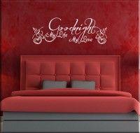 adesivi murali goodnight my love