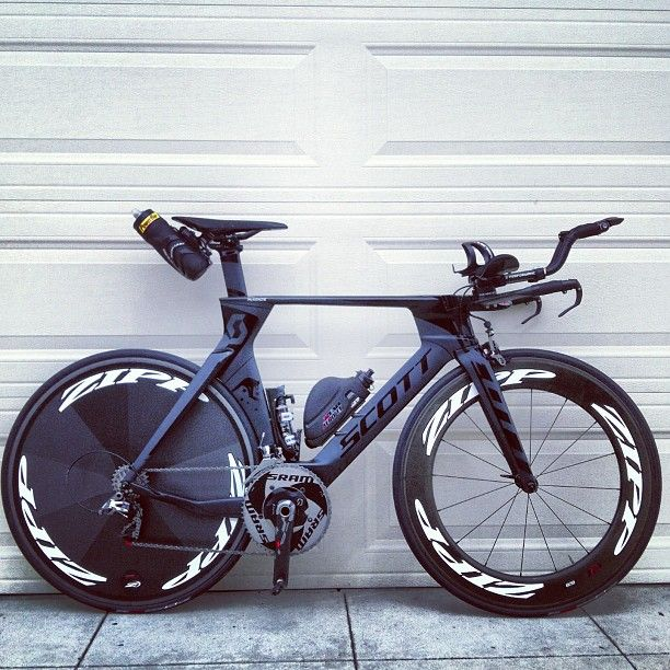 Scott Tri, Zipp Wheels.