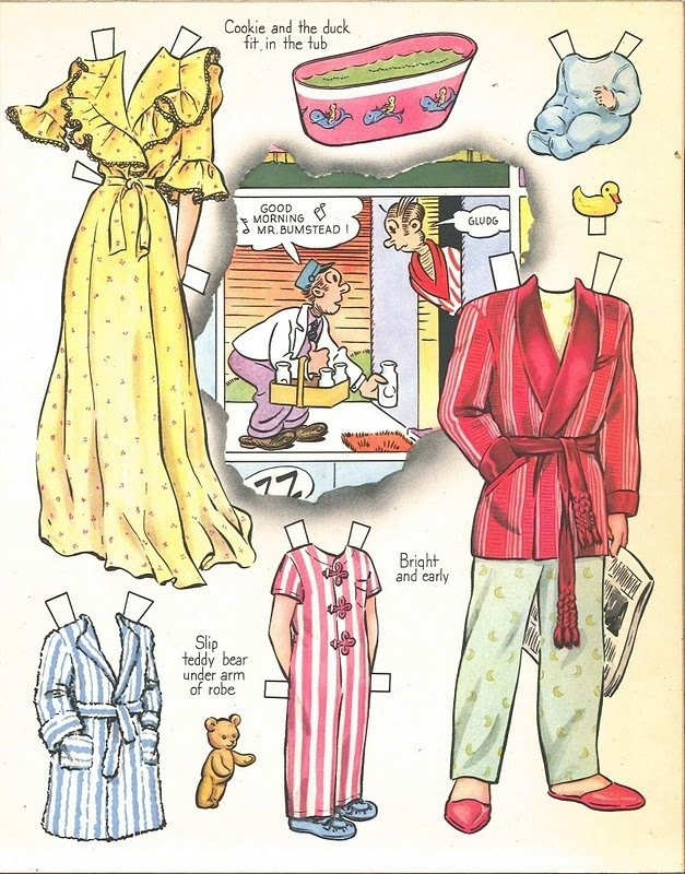 BLONDIE CUT-OUT BOOK © 1943 King Features Syndicate, Inc., Whitman Publishing Co.