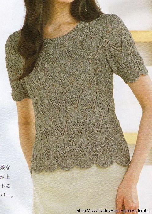 Картинки по запросу пинтерес самое интересное вязание спицами летнии блузки