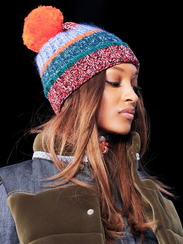 A pom-pom beanie chic enough to wear off the slopes.