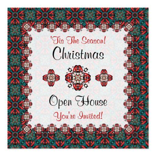 9 best Open house invites images on Pinterest Invites, Christmas