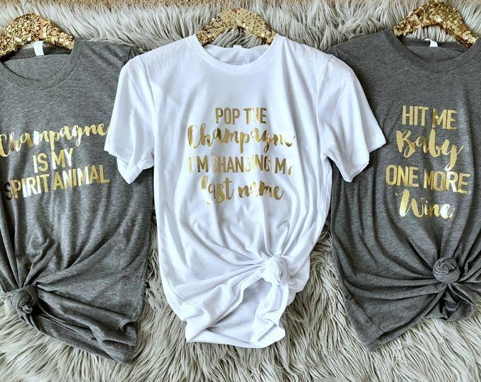 Wine Girl Wasted Wine Bachelorette Shirts Wine Shirt Bridesmaids Shirt Bridal Party Shirts Bachelorette Party Tshirt Bride T shirt