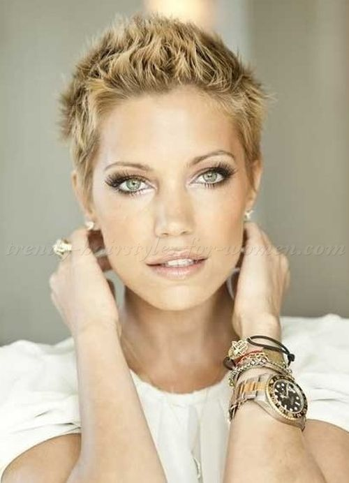 short hairstyles - short spiky hairstyle for women